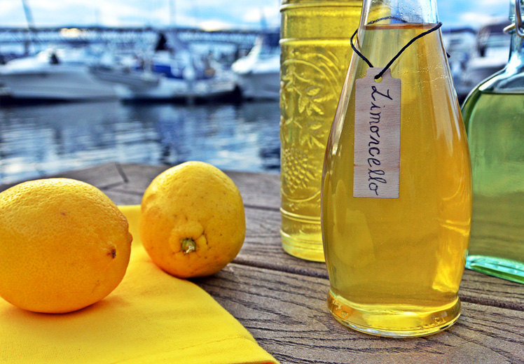 Homemade Limoncello And Limon Sunrise Recipe — Dishmaps