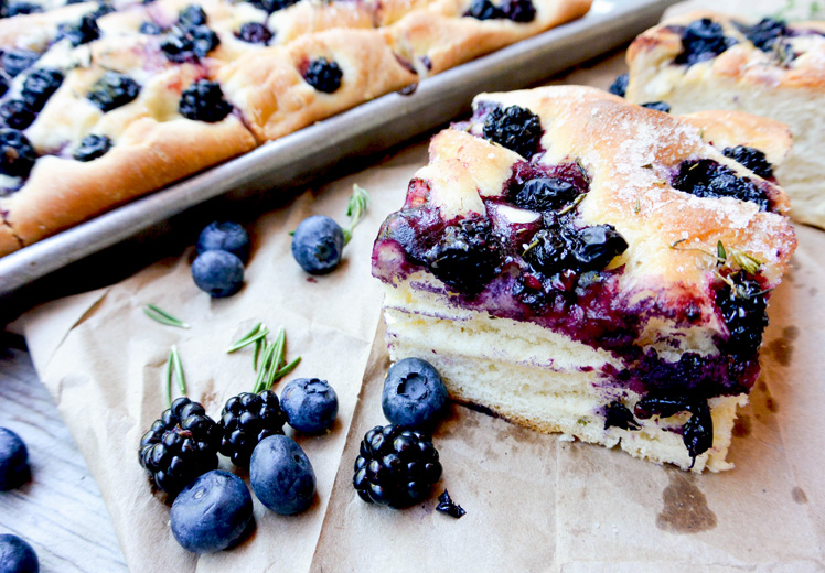 Blueberry-Blackberry Herbed Focaccia