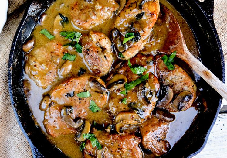 Pork Medallions in Mushroom-Marsala Sauce | The Floating Kitchen