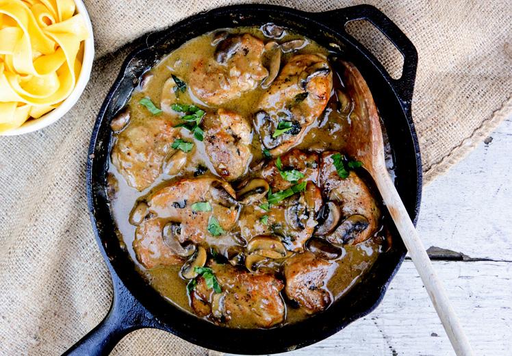 Pork Medallions in Mushroom-Marsala Sauce