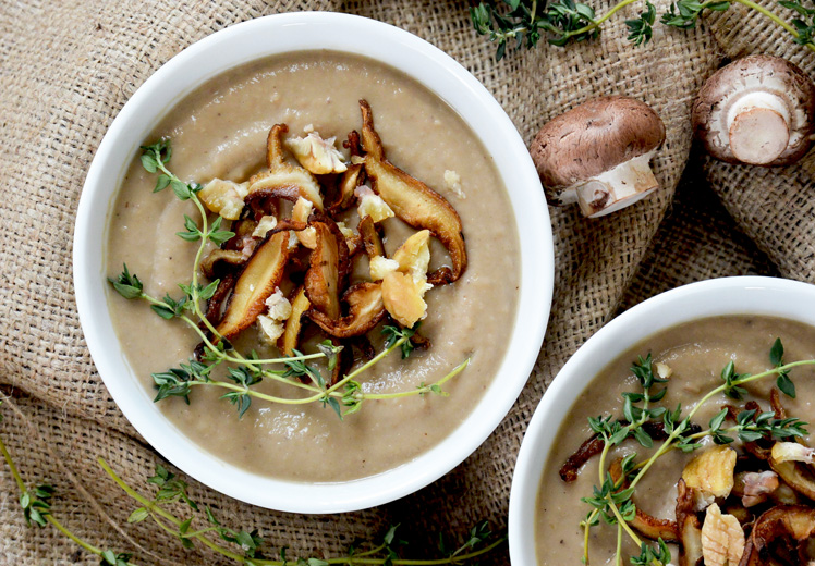 Creamy Mushroom-Chestnut Bisque {Vegan!}