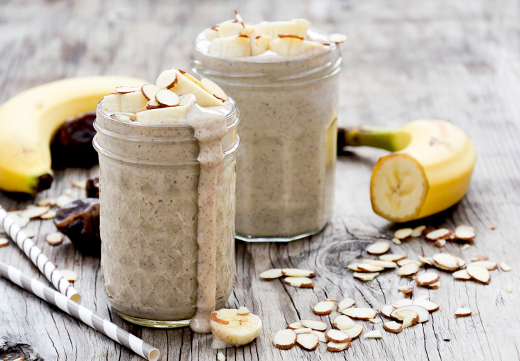 Roasted Banana and Almond Smoothie