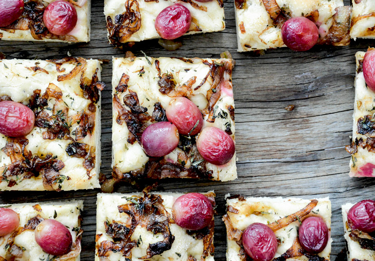 Grape and Caramelized Onion Herbed Focaccia