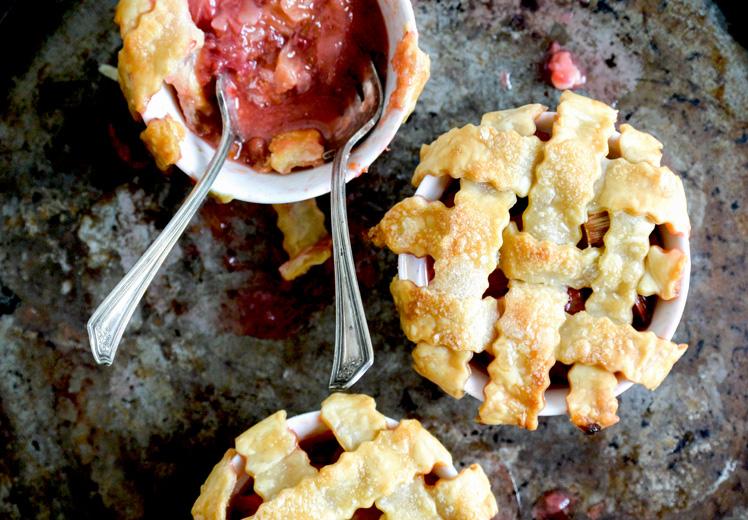 Strawberry-Rhubarb Tarts