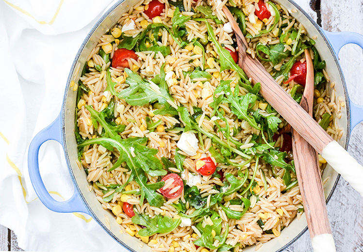 Orzo Salad with Roasted Corn and Zucchini | The Floating Kitchen