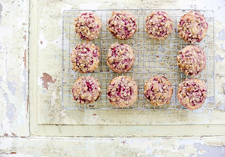 Raspberry-Coffee Streusel Muffins