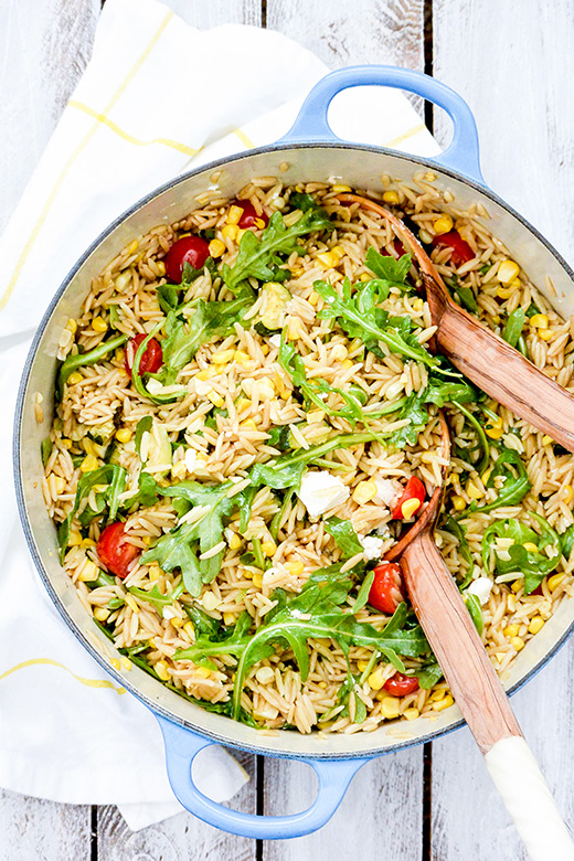 Orzo Salad with Roasted Corn and Zucchini | www.floatingkitchen.net