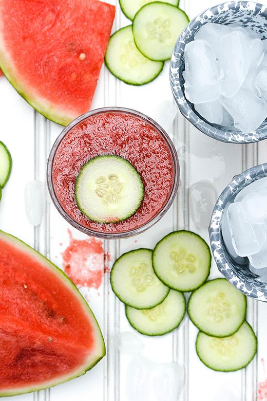 Watermelon-Cucumber Cooler Recipe — Dishmaps