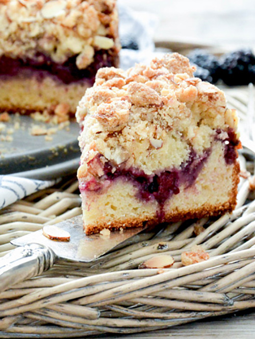 Blackberry and Almond Coffee Cake | www.floatingkitchen.net