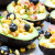 Avocados with Bacon, Corn and Blueberry Salsa