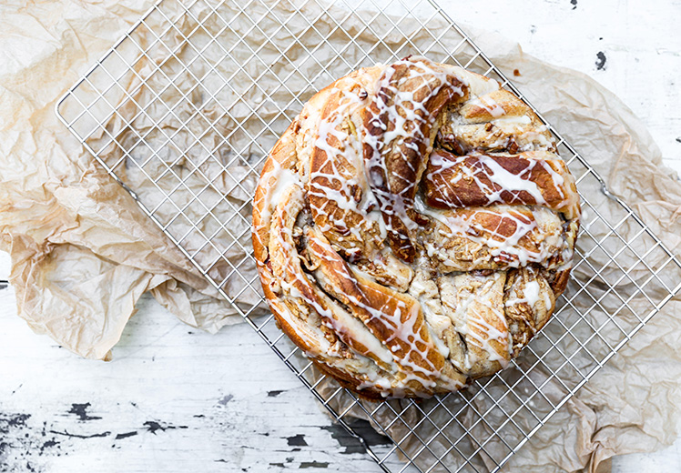 Braided Cinnamon, Apple and Pecan Bread | www.floataingkitchen.net