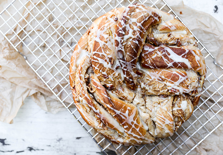 Braided Cinnamon, Apple and Pecan Bread