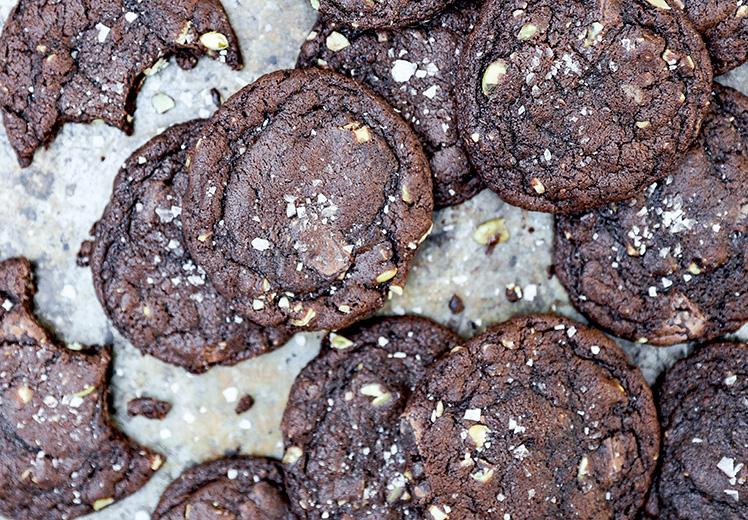 Chewy Dark Chocolate-Pumpkin Cookies