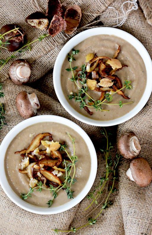 Creamy Mushroom-Chestnut Bisque {Vegan!}   www.floatingkitchen.net