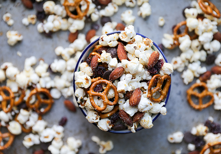 Salty, Sweet and Smoky Popcorn Snack Mix
