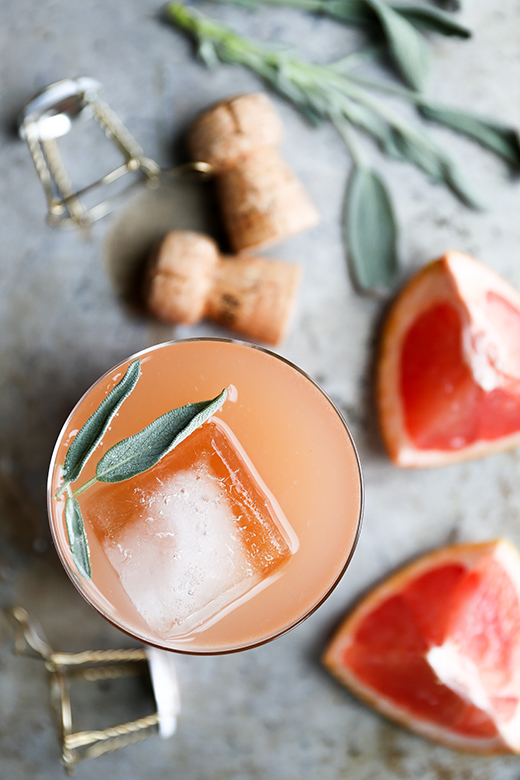 Grapefruit and Sage Champagne Cocktails | The Floating Kitchen