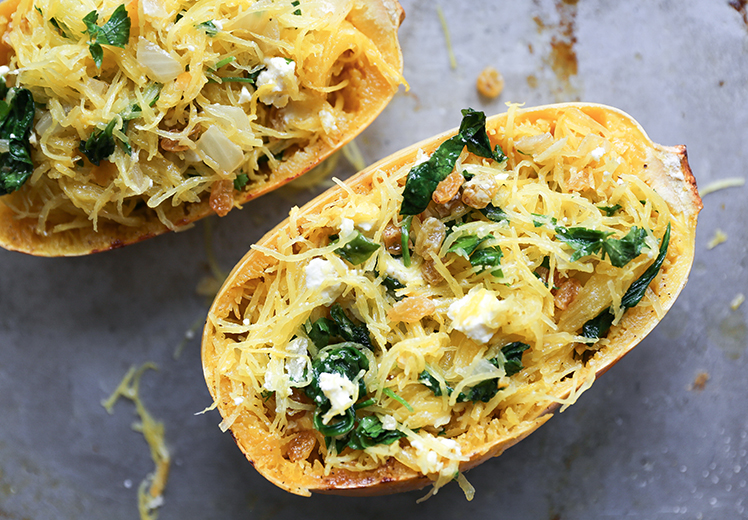 Moroccan-Spiced Stuffed Spaghetti Squash | The Floating Kitchen