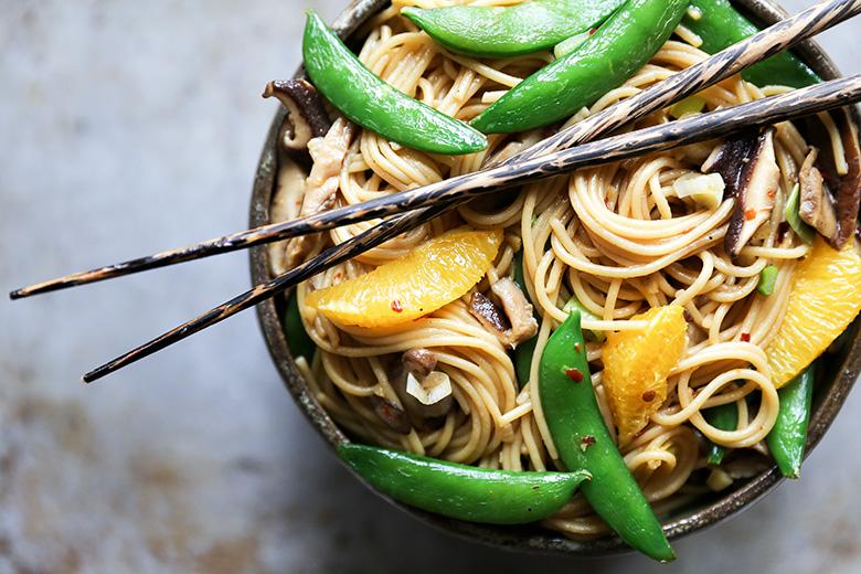 Vegetable Noodle Stir Fry with Orange