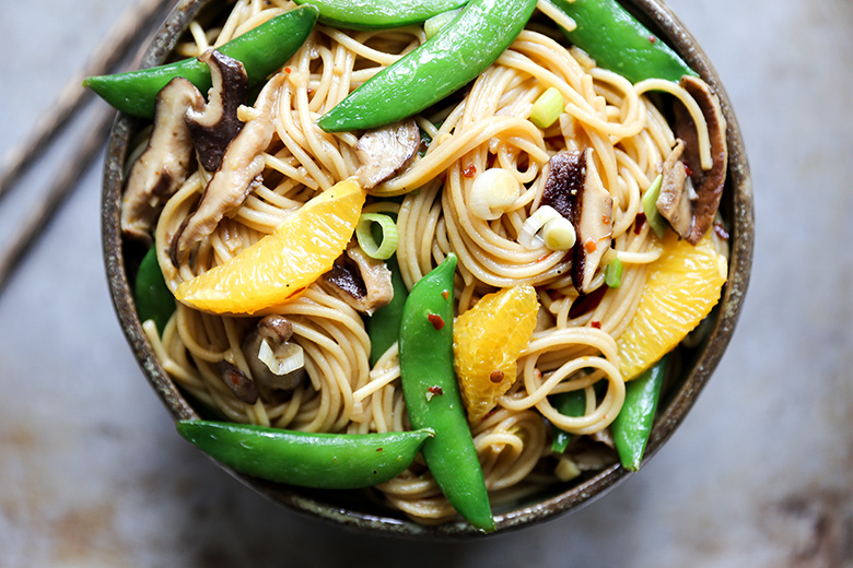 Vegetable Noodle Stir Fry with Orange | www.floatingkitchen.net