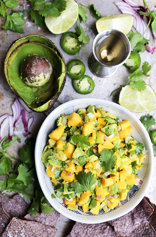 Tequila-Spiked Mango and Avocado Salsa | www.floatingkitchen.net
