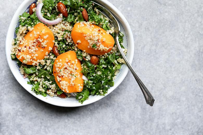 Kale, Apricot and Quinoa Salad
