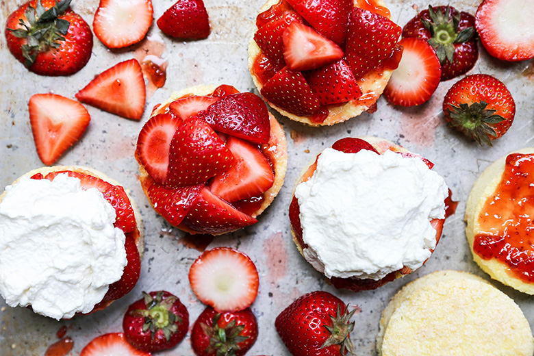 Strawberry Shortcake with Lemongrass-Basil Whipped Cream