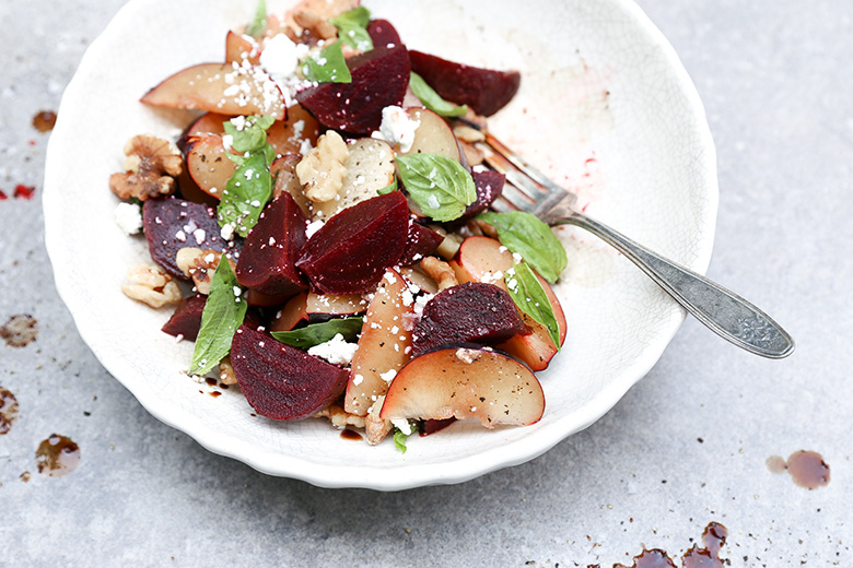 Roasted Beet and Plum Salad | www.floatingkitchen.net