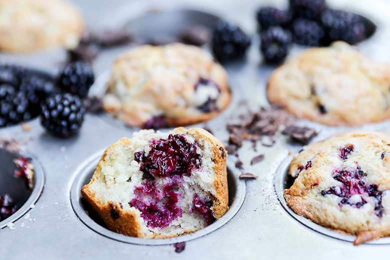 Blackberry-Chocolate Chunk Muffins