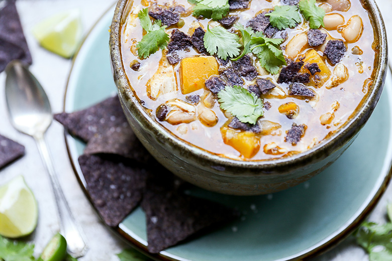 Chicken and Pumpkin Chili {#virtualpumpkinparty} | www.floatingkitchen.net