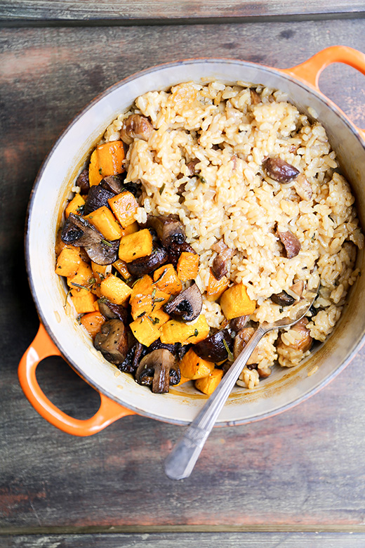 Chestnut, Mushroom and Butternut Squash Baked Risotto ...
