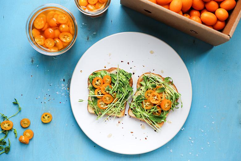 Quick-Pickled Kumquat Avocado Toast