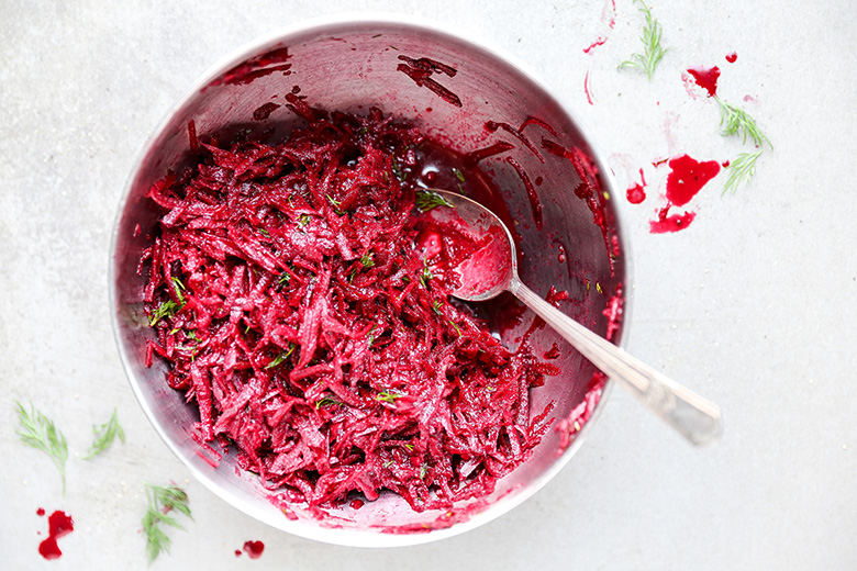 Raw Beet and Dill Salad