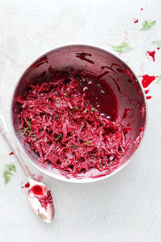 Raw Beet and Dill Salad | www.floatingkitchen.net