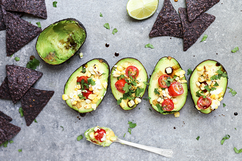 Baked Avocados with Fresh Salsa | www.floatingkitchen.net