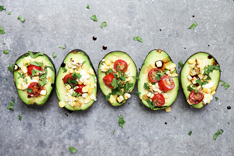 Baked  Avocados with Fresh Salsa