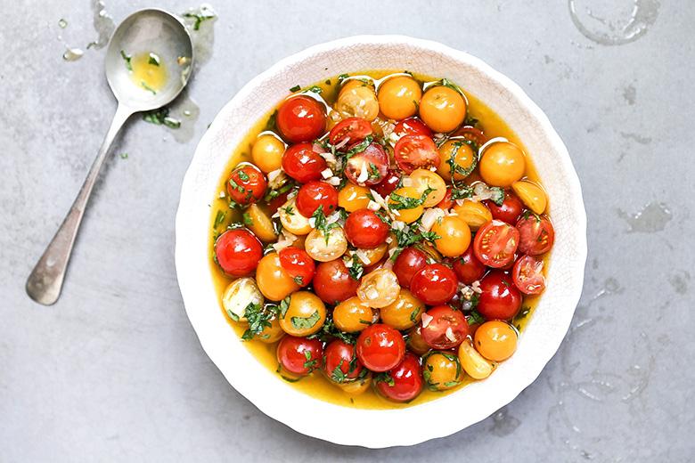 Beer-Marinated Cherry Tomatoes