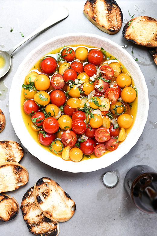 Beer-Marinated Cherry Tomatoes | www.floatingkitchen.net