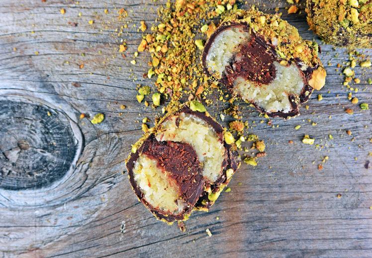 Ganache Filled Marzipan Truffles with Homemade Marzipan