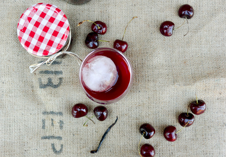 Cherry-Vanilla Infused Bourbon