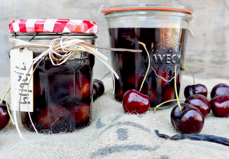 Cherry-Vanilla Infused Bourbon