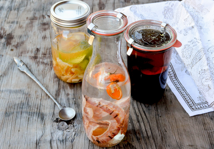 Infused Liquors: Three Ways