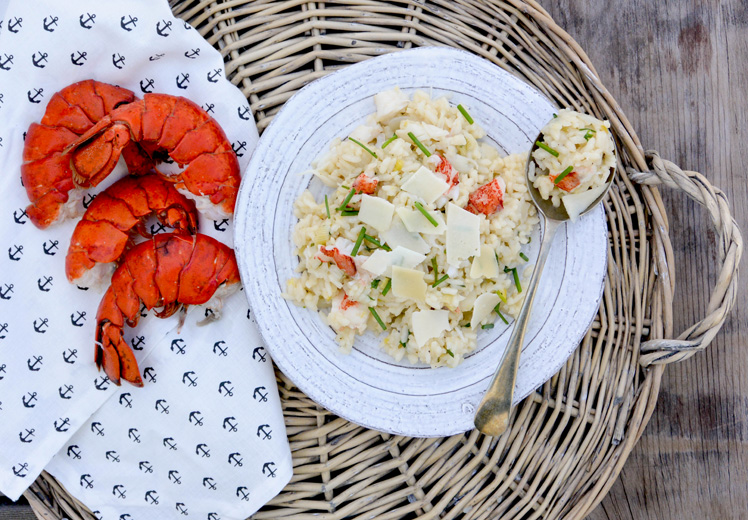 Lobster Risotto {and surprise I moved!}