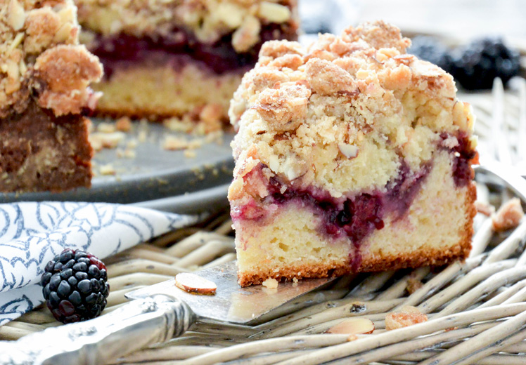 Blackberry and Almond Coffee Cake
