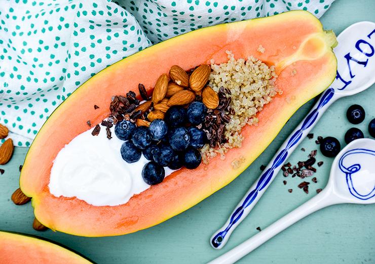Papaya Quinoa Breakfast Bowl