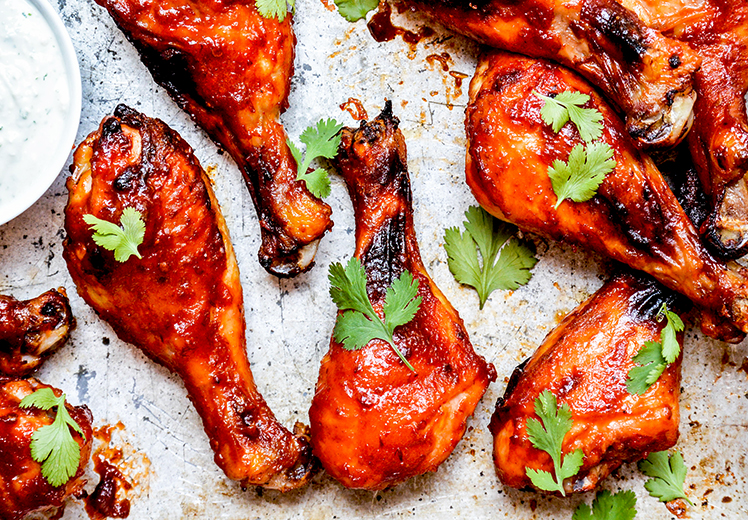 Baked Watermelon Barbecue Chicken Drumsticks