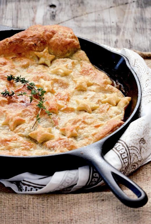 Skillet Chicken and Mushroom Pot Pie | www.floatingkitchen.net