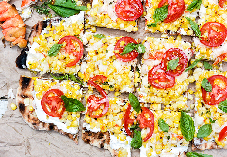 Grilled Lobster and Corn Pizza with Goat Cheese and Fresh ...