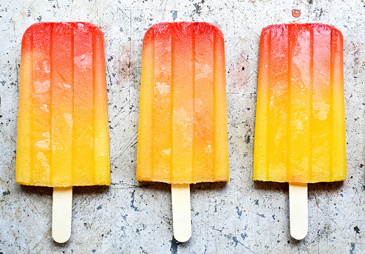 Spicy Tequila Sunrise Popsicles {Popsicle Week}