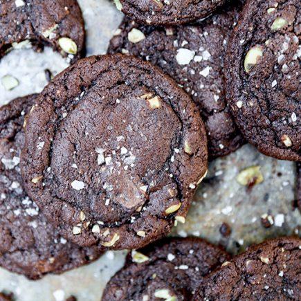 Chewy Dark Chocolate-Pumpkin Cookies | www.floatingkitchen.net