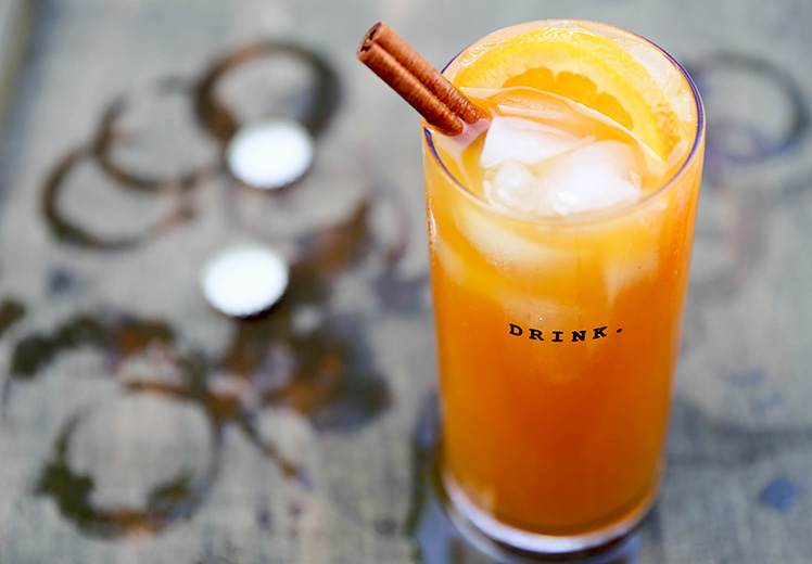 Pumpkin Beertail with Tequila and Spiced Rum | www.floatingkitchen.net